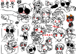 apple_juice art_dump blush chibi crying dave_strider food godtier hug knight no_glasses pseudo-innocent-clown puppet_tux size_difference smuppets starter_outfit timetables trollified wayward_vagabond wv