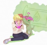 blush crossover deleted_source digimon flowers my-friend-the-frog roxy_lalonde starter_outfit