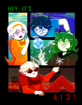 413 appl-juice42 beta_kids breath_aspect dave_strider dogtier godtier heir jade_harley john_egbert knight land_of_frost_and_frogs land_of_heat_and_clockwork land_of_light_and_rain land_of_wind_and_shade light_aspect rose_lalonde seer space_aspect time_aspect witch
