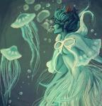 animals aquariumstuck au back_angle chocolatula kanaya_maryam limited_palette solo underwater
