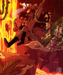 aradia_megido chibigaia epic golden_guns jake_english skull_suit