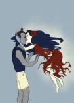 aradia_megido barefoot dead_aradia equius_zahhak iron_maiden kiss midair poidkea redrom shipping