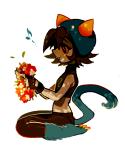 bim0ngsam0ng blush flowers nepeta_leijon sitting solo
