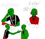 art_dump au bloodswap blush caliborn calliope dream_ghost text tpdats word_balloon