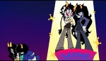 aranea_serket crossover dancestors dream_ghost feferi_peixes gainax meenah_peixes mokmok-ssw panty_and_stocking peixeses serkets vriska_serket