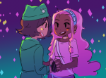 blush feferi_peixes holding_hands humanized nepeta_leijon no_glasses octopussy redrom request shipping sylph-of-life