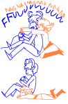 arijandro comic fantroll gaming on_stomach sitting