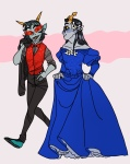 blush crossdressing equius_zahhak flower_crown flowers law_and_order nakedprofessional shipping suit terezi_pyrope