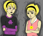 arms_crossed black_squiddle_dress crossover luckyloser123 rose_lalonde the_grim_adventures_of_billy_and_mandy