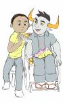 artaline crossover fiduspawn host_plushie rick_and_morty sketch tavros_nitram wheelchair