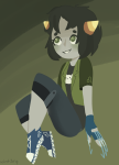 action_claws casual fashion nepeta_leijon no_hat solo wint3ry
