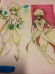 dave_strider feudal_japan john_egbert katana lawey sketch
