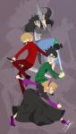 beta_kids caledscratch dave_strider hunting_rifle jade_harley john_egbert pogo_hammer red_plush_puppet_tux rose_lalonde starter_outfit thorns_of_oglogoth violet1202 wise_guy_slime_suit