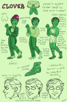 character_sheet clover felt humanized no_hat profile text tricotee undergarments