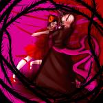 black_squiddle_dress damara_megido dancestors dream_ghost erraticart grimdark rose_lalonde strife thorns_of_oglogoth