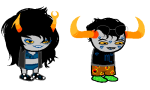 clothingswap glasses_added glassesswap lipstick_stains lovelylilkitten no_glasses shipping sleepystuck sprite_mode tavriska tavros_nitram vriska_serket