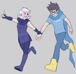 breath_aspect breathalyzer gkswls0413 godtier heir holding_hands john_egbert redrom rogue roxy_lalonde shipping void_aspect