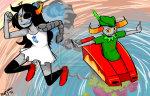 artificial_limb fairy_dress land_of_maps_and_treasure midair miyomo pupa_pan rocket_car tavros_nitram vriska_serket watermark