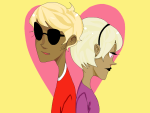 back_to_back codpiecequeen dave_strider headshot heart pixel rose_lalonde siblings:daverose