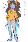 aradia_megido aspect_hoodie barefoot casual clothingswap fashion light_aspect myluckyseven solo