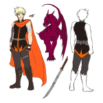 animals au character_sheet dirk_strider no_glasses scalestuck solo unbreakable_katana wolfpainters