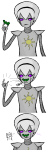 comic homestuck^2 meat_timeline non_canon_design rose_lalonde rosebot solo spinnedcycle w_magnet