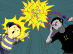 anonymous_artist crossover earthbound low_angle mother no_glasses psionics sollux_captor strife
