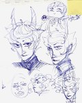 art_dump book dave_strider godtier headshot kanaya_maryam karkat_vantas light_aspect rose_lalonde seer sketch
