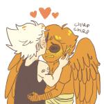 bird_of_prey blush davesprite dirk_strider happyghst heart hug incest redrom shipping sprite stridercest strong_tanktop