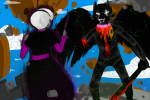 battlefield bec_noir black_squiddle_dress blood clouds grimdark jack_noir panel_redraw regisword rose_lalonde strife thorns_of_oglogoth uri-loves-cookies