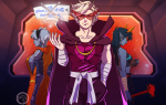 casual dirk_strider dragon_cane fashion godtier heart_aspect homestuck^2 light_aspect modtier onigiripretty prince rose_lalonde rosebot seer stars terezi_pyrope text