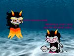aranea_serket blackrom body_modification crossover cyv001 dancestors dream_ghost feferi_peixes gillfronds image_manipulation meenah_peixes peixeses shipping spongebob_squarepants sprite_mode this_is_stupid underwater