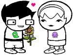 flowers grimdorks heart image_manipulation john_egbert johnlalondestrider redrom rose_lalonde scribblenauts shipping sprite_mode
