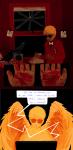 blood comic crows dave_strider davesprite red_plush_puppet_tux sprite text wodaro word_balloon