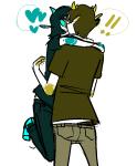 ! blind_love blush heart hug kiss milkwhiterabbit redrom shipping sollux_captor terezi_pyrope word_balloon