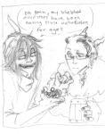 au crossover dreadelion drug_use eridan_ampora gamzee_makara grayscale hat how_to_train_your_dragon sketch vikingstuck word_balloon
