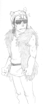 au crossover dreadelion equius_zahhak grayscale hat how_to_train_your_dragon sketch solo vikingstuck