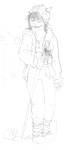 au crossover dragonmom dreadelion grayscale hat how_to_train_your_dragon lusus no_glasses sketch terezi_pyrope vikingstuck