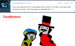 ask crossover grubs hat karkat_vantas pother professor_layton sollux_captor