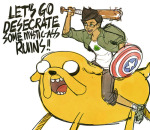 adventure_time averyniceprince captain_america crossover jake_english marvel
