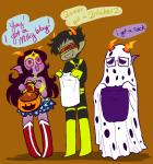 ask cosplay crossover dc eridan_ampora feferi_peixes halloweenstuck marvel peanuts saccharinesylph sollux_captor wonder_woman x-men