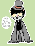 crossover karkat_vantas professor_layton sleepy0wl solo word_balloon