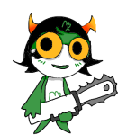 chainsaw chibi crossover kanaya_maryam sgt_frog solo source_needed sourcing_attempted