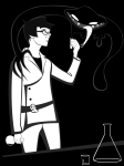 ectobiology grayscale john_egbert junior_ectobiologist's_lab_suit solo source_needed sourcing_attempted