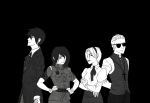 beta_kids crossover dave_strider fortheloveofpizza grayscale hellsing jade_harley john_egbert rose_lalonde suit