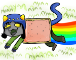 catwings30 crossover nepeta_leijon nyan_cat rainbow solo