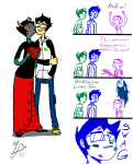 adventure_time comic con_heir grimdorks john_egbert kan_heir kanaya_maryam lipstick_stains pungoeshere redrom rose_lalonde shipping the_truth vriska_serket