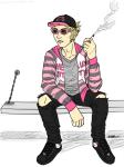 bro casual fashion hello_kitty inexact_source kyrianne smoking solo